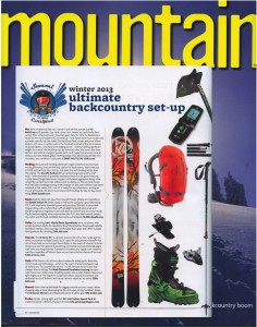 Mountain Mag - 2013 Ultimate backcountry set-up